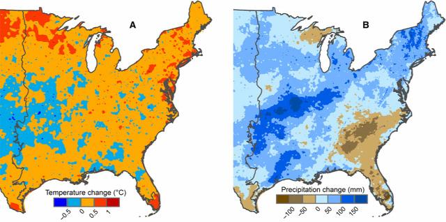 klímaváltozás észak-amerika csapadék