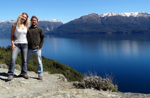 Mi a Nahuel Huapi-tóval a háttérben