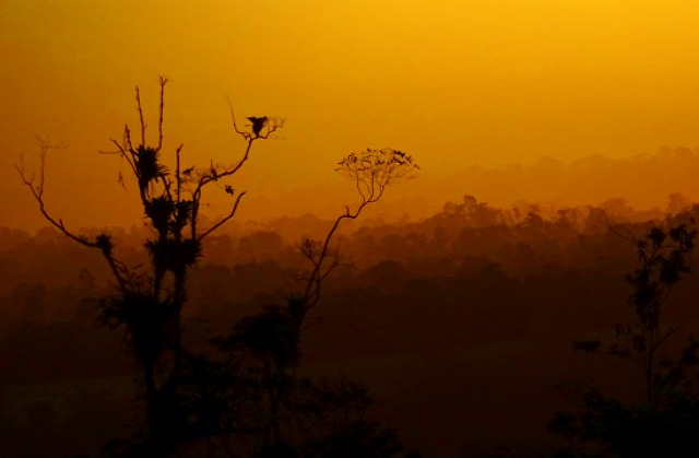 Napfelkelte a Cerro Chatoról nézve
