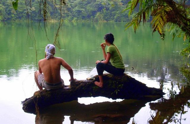 2009-ben volt szerencsém látni a Cerro Chato lagúnáját két tico cimborával