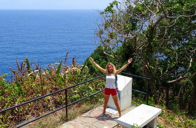 Eri a sziget legmagasabb pontján