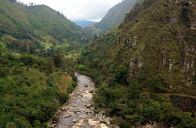Kolumbia Fusagasugá Pasca Sumapaz-kanyon Salto La Chorrera Venecia Cabrera
