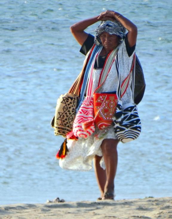 Wayúu asszony a Guajira-félszigeten