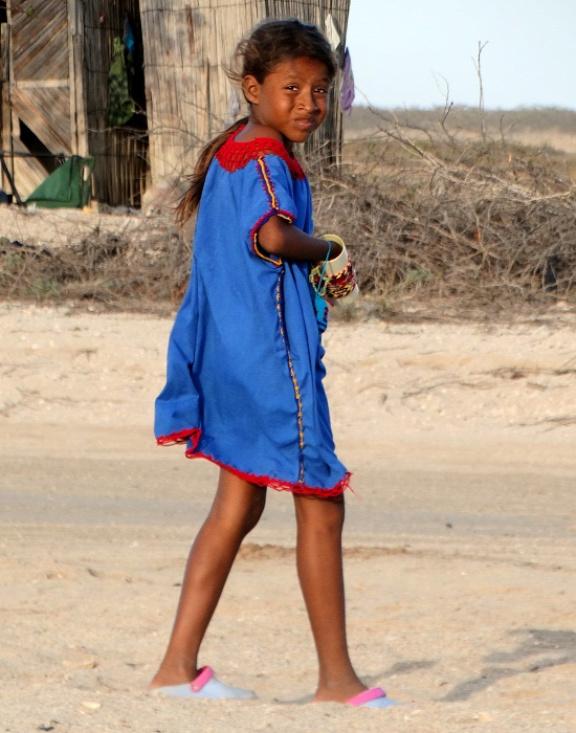 Wayúu kislány Cabo de la Velában