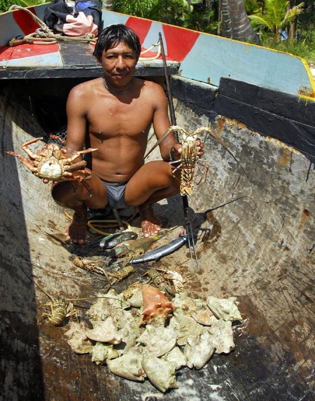 A gunák az ételt a tengerből nyerik (fotó: Csernoch János)