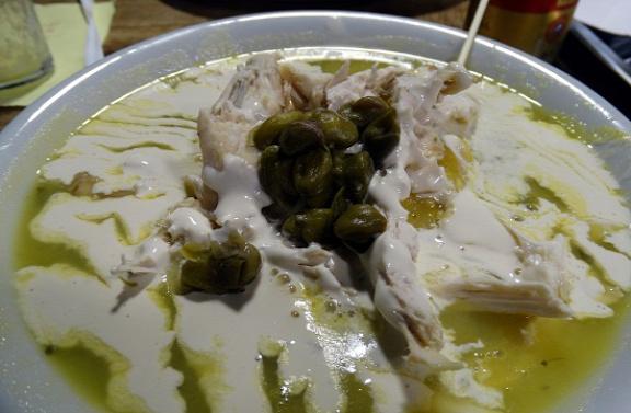Kolumbia klasszikus étele az ajiaco