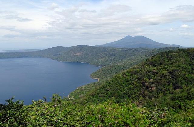 Nicaragua Granada Mombacho-vulkán Masaya-vulkán Apoyo-krátertó