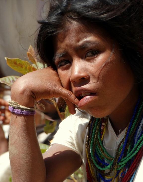 Arhuaco kislány portréja