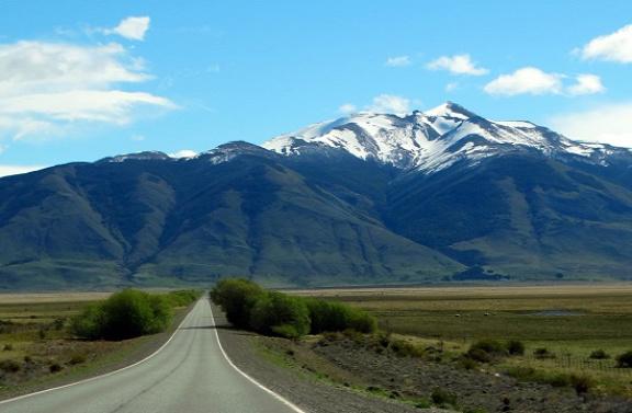 Útban a Perito Moreno-gleccserhez
