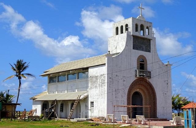 San Miguel de la Borda éppen épülő temploma