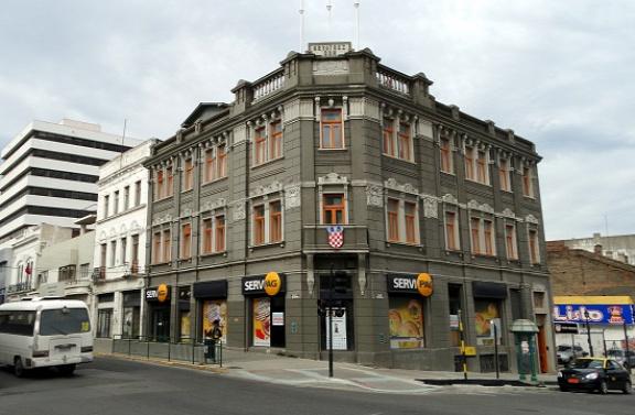Horvát címer egy chilei épületen