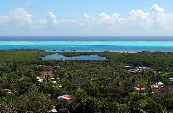 San Andrés legmagasabb pontjáról a kilátás