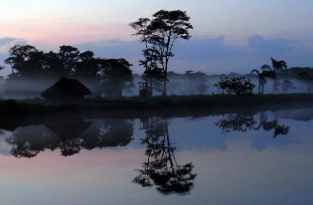Hajnal a Rio San Juanon