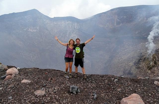 Nicaragua León Telica-vulkán