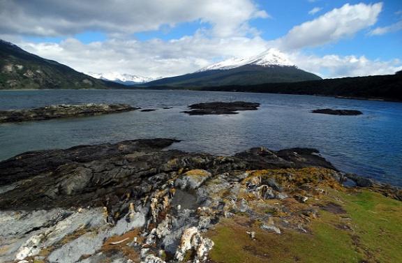 A háttérben látható Cerro Condor már Chiléhez tartozik