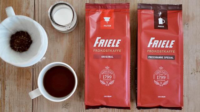 kávé Norvégia Skandinávia Friele