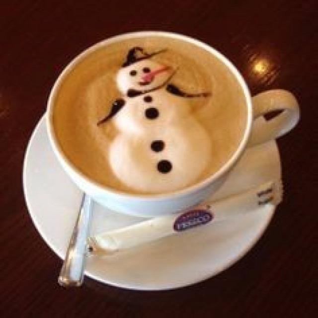 latte art tejhab ünnepi karácsony