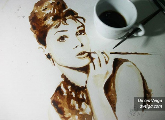 kávé művészet festés