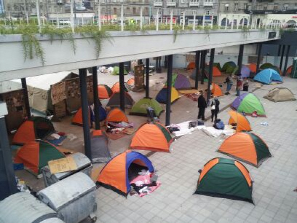 film forgatás migránsok menekültek Mundruczó Budapest Keleti pályaudvar