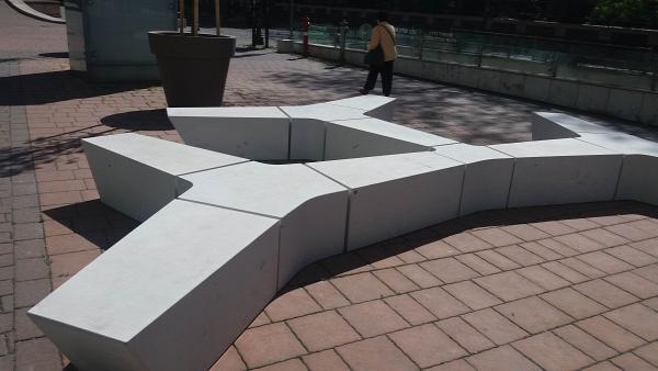 beton köztéri bútor köztéri pad díj