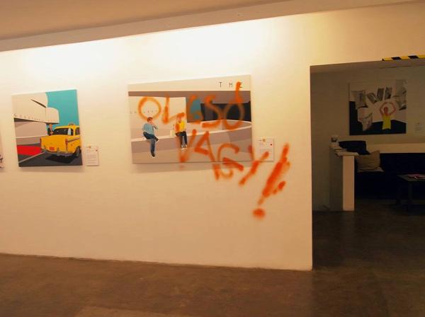 Godot galéria kiállítás pop new york Weiler Péter festmény