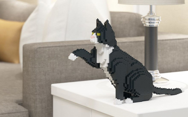 macska lego kocka építés