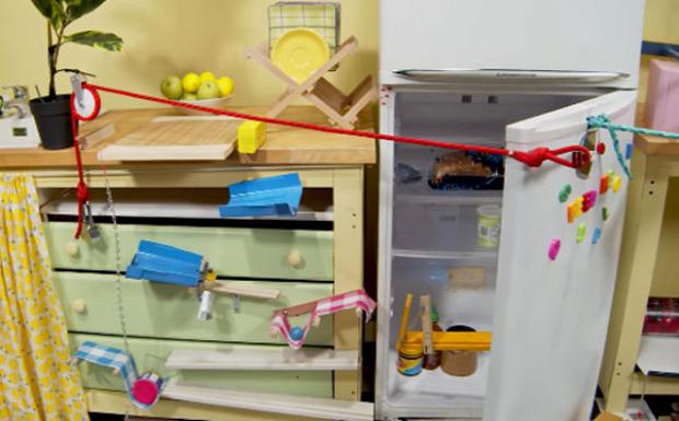 goldberg gép macska etetés etető