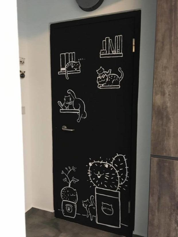 lakás fal rajz
