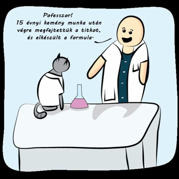 képregény vicces tudós