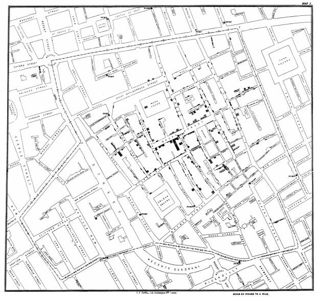 John Snow London kolera térkép járvány