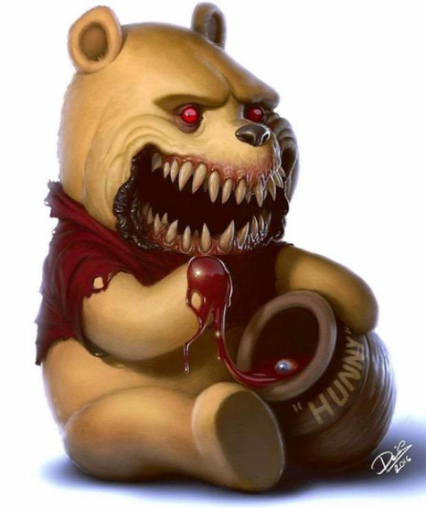 A világ érdekes rajzfilm karakter ijesztő