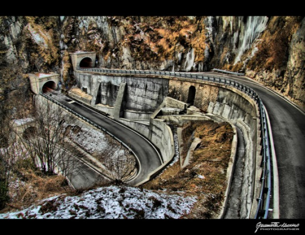 hágó átjáró pass San Baldo Olaszország első világháború Osztrak-Magyar Monarchia hadsereg szerpentin alagút Trichiana Tovena