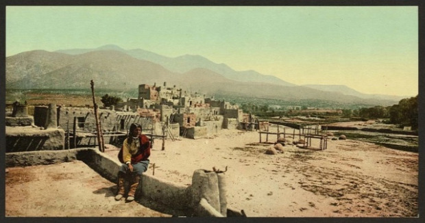 A világ érdekes Amerika vadnyugat restaurált színezett igazi