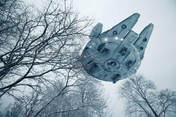A világ érdekes Star Wars SW űrhajó perspektiva