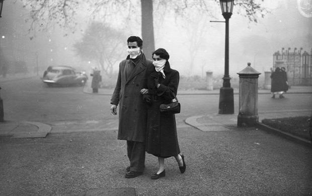 A világ érdekes London köd sötét