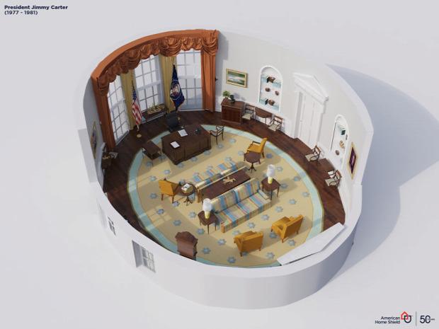 USA elnök iroda ovális dizájn stílus