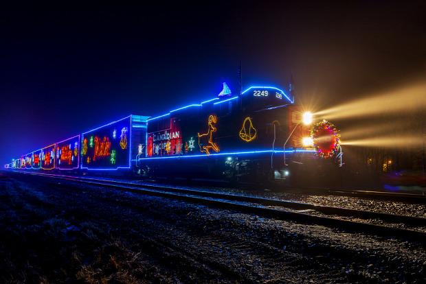 a világ érdekes Kanada Canadian Pacific vasút karácsonyi jótékonyság