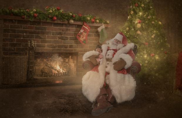 A világ érdekes karácsony kórház gyerek rák Photoshop fotó