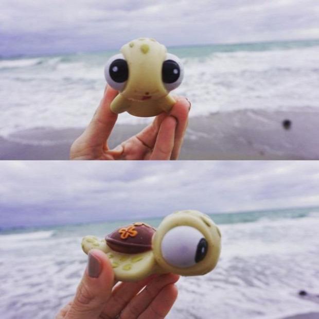A világ érdekes tengerpart kincs szemét