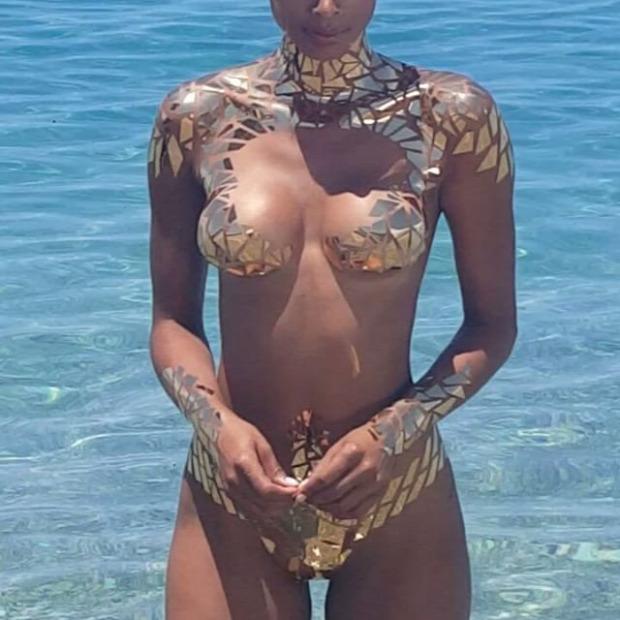 A világ érdekes Brazília strand ragasztószalag ragszalag bikini