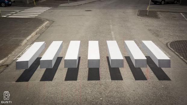 A világ érdekes 3D zebra Izland