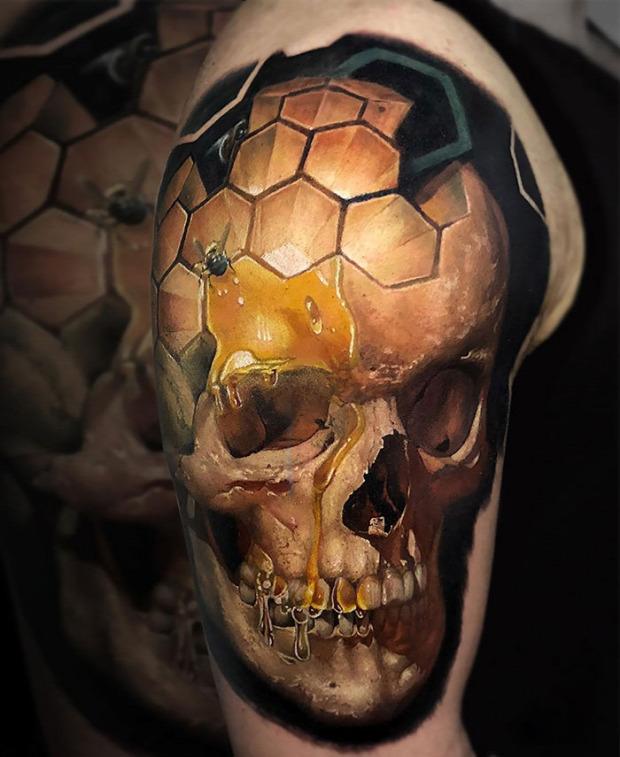 A világ érdekes 3D térhatású tetoválás tetkó tatoo