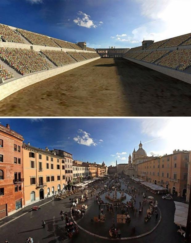 A világ érdekes Róma római birodalom épület híres látvány