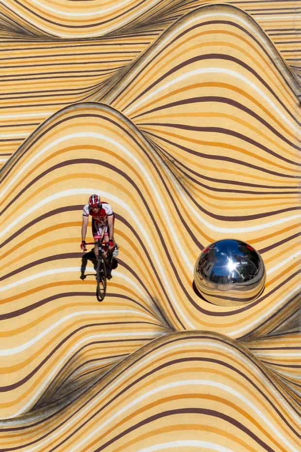 Montreál utca optikai illúzió festés