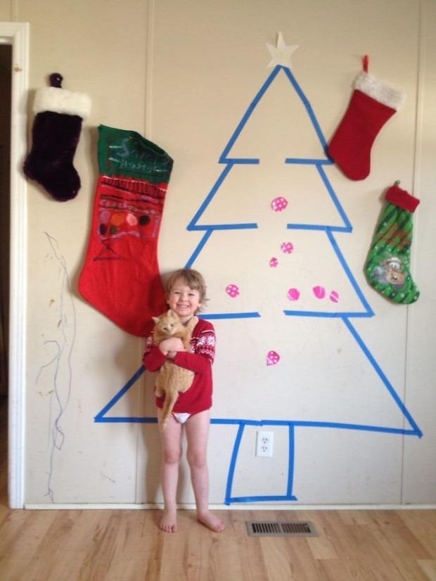 A világ érdekes karácsony díszítés minimalista
