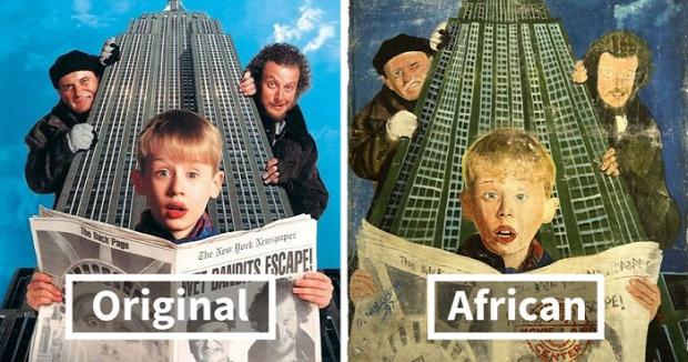 A világ érdekes Afrika mozi plakát rémes bizarr