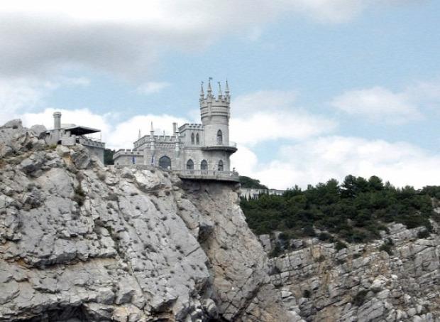 A világ érdekes ukrajna Krim-fésziget Jalta sziklaszírt fecskefészek kastély Aurora szikla