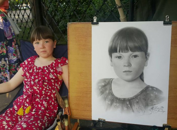A világ érdekes portré ceruza hiperrealisztikus egy óra