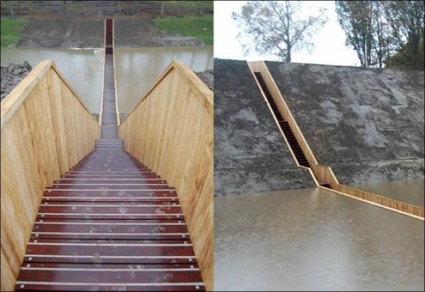 Mózes  Moses híd Hollandia vízszint erő de Roovere Accoya