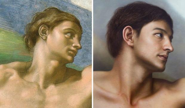 A világ érdekes hiperrealista festő festmény koreai szobor